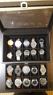 Eaglemoss military watches 20/20 watches with Display Case