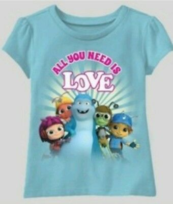 Beat Bugs Shirt 3T Girls Blue All You Need Is Love