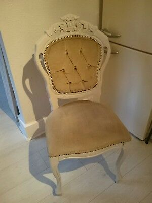 Chair Louis French style,Chalk Painted, shabby chic look