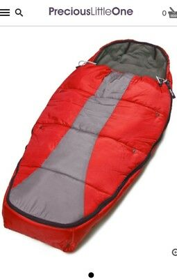 Phil & Teds Snuggle & Snooze Sleeping Bag Red & charcoal Winter Footmuff
