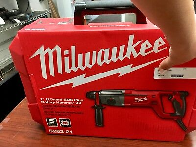 "Brand New Milwaukee 5262-21 1"" (25Mm) Sds Plus Rotary Hammer Drill Kit Corded"