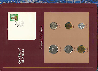 Coin Sets of All Nations Korea UNC 1,5,10,50,100 Won 1983 500 Won 1984