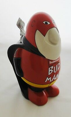 Budweiser Bud Man Ceramic Stein Made In Brazil