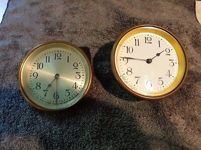 "3-1/2"" New Haven Porcelain & Silvered Dials with Bezel, Hands, w/Beveled Glass"