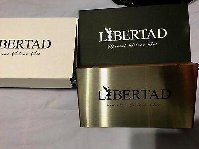 2017 Mexico 2-Coin Silver Libertad Proof/Reverse Proof Set Mintage 500- #94