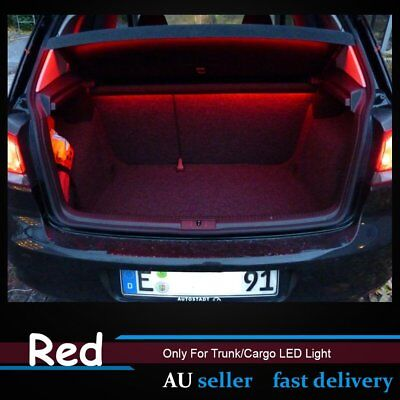 2x 60cm Short Red Flexible LED Strips Boat Car SUV UTE Trunk Footwell Light 12V