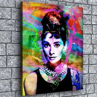 Audrey Hepburn Poster Painting HD Print Canvas Home Decor Room Wall Art Picture