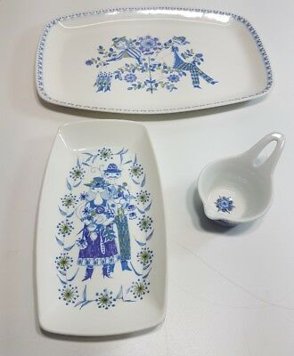 FIGGJO NORWAY Turi Design Lotte set of 3 HandPainted beautiful pieces