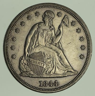 1844 Seated Liberty Silver Dollar - Circulated *9021
