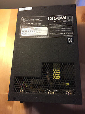 Silverstone Zeus ZM1350 1350W SILVER Power Supply (PSU), Great Condition!