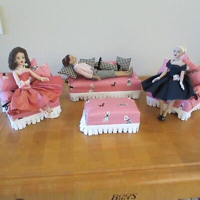 10 IN DOLL FURNITURE LOT OF 4  Fits Tiny Kitty Collier, Coquette Cissy, Barbie