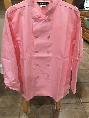 Women's 1st Quality Pink Chef Coat Sizes: XS- Large Price 11.00