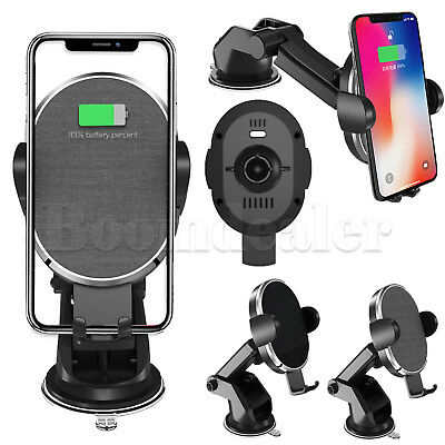 Qi Wireless Car Mount Magnetic Charger Holder for iPhoneX 8 Samsung S9 S8 Note 8