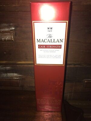 The Macallan Cask Strength Single Malt Scotch Wiske, Discontinued.