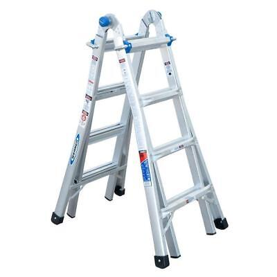 Werner 18-ft Aluminum Reach Type 1A - 300lbs Telescoping Multi-Position Ladder