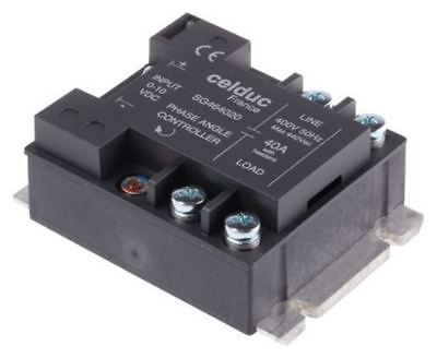 Celduc 40 A Solid State Relay, Chassis Mount Triac, 460 V rms Maximum Load