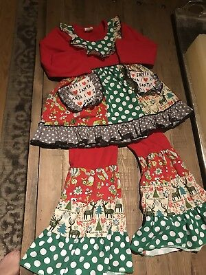 Girls Boutique Christmas Outfit- size 4