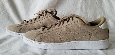 half off 5e76e 2095e Nike Tennis Classic NEW 829351-201 Men s Khaki Suede Sneakers