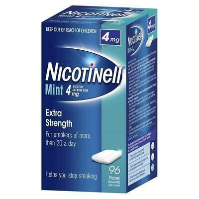New Nicotinell Chewing Gum 4mg Mint 96