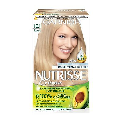 Hair Dye Natural Looking Garnier Nutrisse 10.1 Ice Blonde Permanent