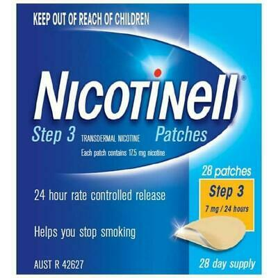 New Nicotinell Step 3 Patch 7mg 24 Hours 28 Day Supply