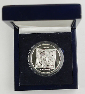 UAE 1999 Emirates 50 Dirham Silver Proof Coin Abu Dhabi Chamber Commerce +BOX