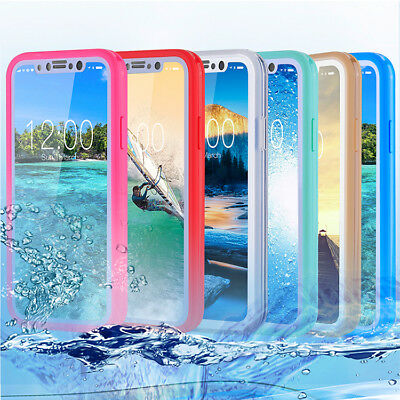 Etui Housse Etanche Waterproof Coque Antichocs Silicone Case Cover iphone X 7 8