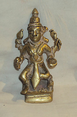 Antique Traditional Indian Ritual Bronze Statue Goddess Parvati Rare #3