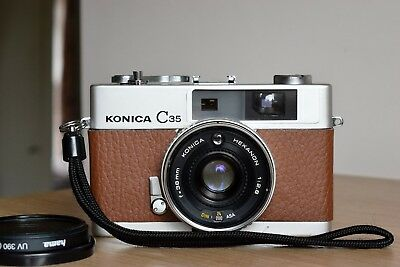 Konica Minolta C35 35mm compact rangefinder  camera with 38mm lens