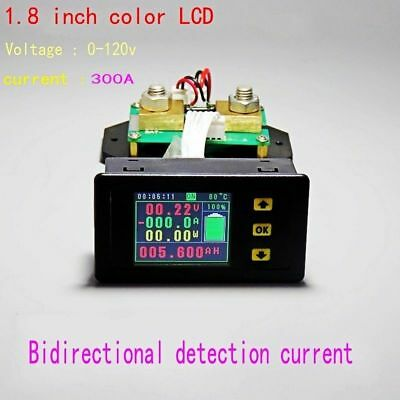 120V 300A Battery Monitor Meter DC VOLT AMP temperature Capacity power coulomb