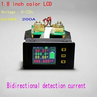 120V 200A Battery Monitor Meter DC VOLT AMP temperature Capacity power coulomb