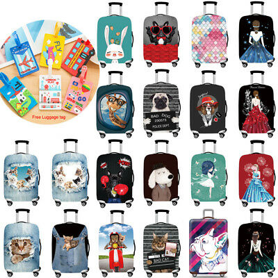 Travel Luggage Cover Protective 18''-32'' Elastic Trolley Case Suitcase Cover