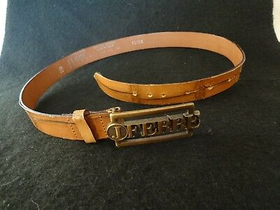 Ceinture Ferre Jeans Cuir Veritable Made In Italy Marron Roux Taille 70 85 d1265c71ab1