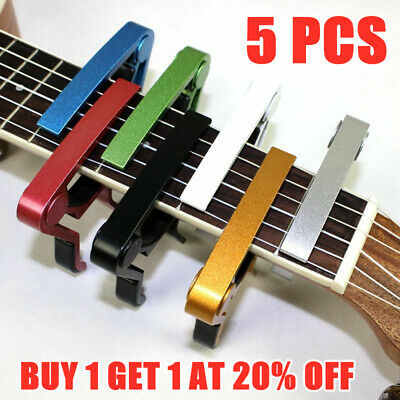 Alloy Guitar Capo With Pick Holder For Acoustic Electric Classical Guitar Bass
