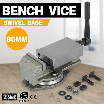80MM Precision Swivel Vice Rotating Bench Clamp Hardened CNC 14KN PROFESSIONAL