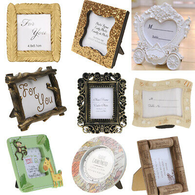 Vintage Flower Mini Resin Picture Photo Frame Wall Decor Home Party