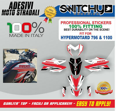 Kit Adesivi Grafiche Race Time Ducati Hypermotard 796 Decals Dekor