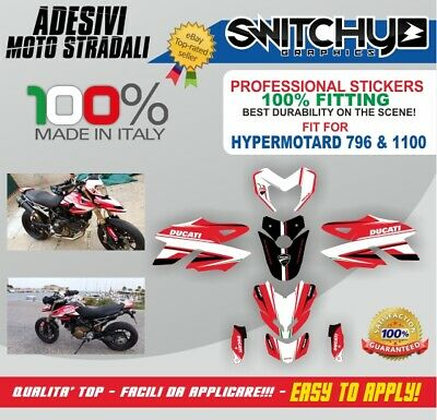 Kit Adesivi Grafiche Race Time Italy Ducati Hypermotard 1100 Decals Dekor