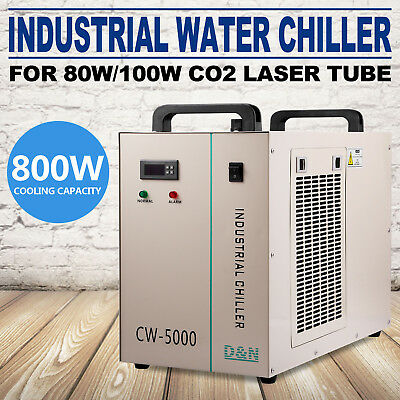 CW-5000DG Industry Air Water Chiller CO2 Laser Engraving Cutting Machine 110V US