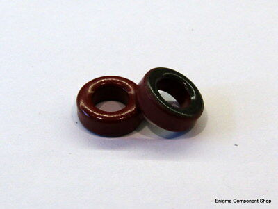 1/2/5/10 x T37-2 Red Ferrite Ring Toroid. AMIDON. UK Seller - Fast Dispatch.
