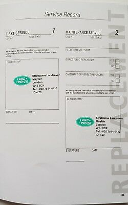 Genuine Land Range Rover Blank Service Replacement Book Stamped At Buyer Request