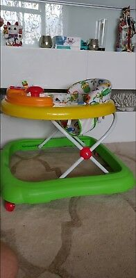 Baby Walker Musical Electronic Play Tray Adjustable Height Jive Jungle