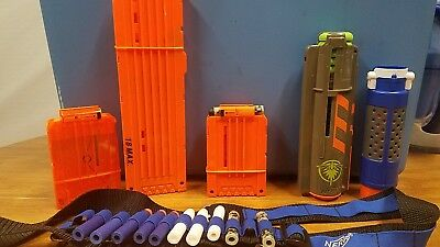 NERF Gun Ammo Cartridge Round Clip Magazine Elite N-Strike Orange Lot Of 6