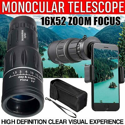 Day Night Vision Binoculars 30X60 Zoom Outdoor Travel Folding Telescope Bag