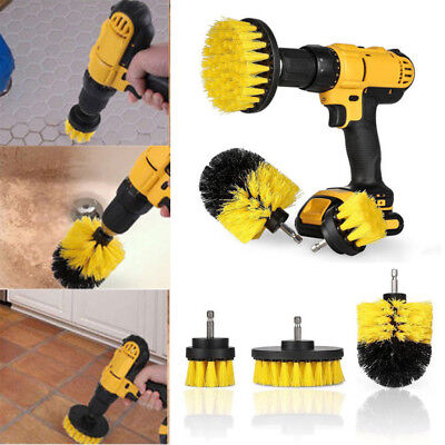3Pcs/Set Power Scrub Tile Grout Cleaning Electric Drill Brush Tub Cleaner Combo