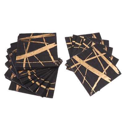 20 Pieces Disposable Gold Stripes Wedding Paper Napkins Party Tableware