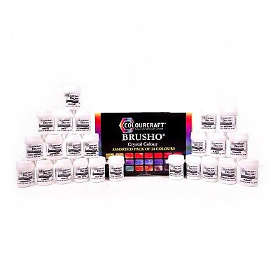 Brusho - 24 Colours - Full Range  - Watercolour