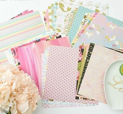 Paper Set Creative Lovely Pattern One Sided Printed Background Scrapbooking Kit