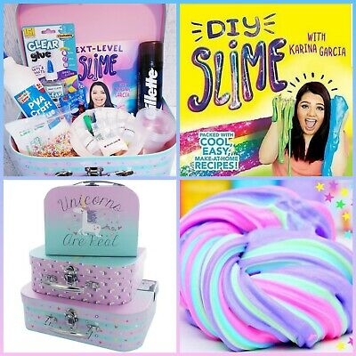 ❤️Mega Slime Making DIY Fluffy, Cloud, Butter Slime Kit & Karina Garcia book