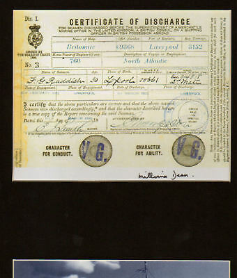 TITANIC, Youngest Survivor signed item RARE  Capt. E Smith link in display.`
